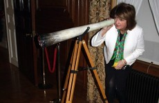 Joan Burton accidentally poses with giant spliff