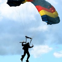 Irish parachutists given out to for breaking rules on apartheid