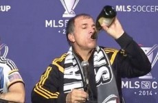 LA Galaxy's manager channelled the spirit of Darren Clarke after the MLS Cup final