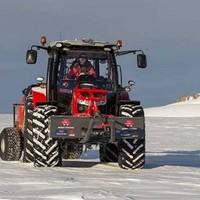 Dutch woman reaches the South Pole on a Massey Ferguson tractor