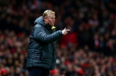 Southampton boss Koeman: Everything is s*** because we lost