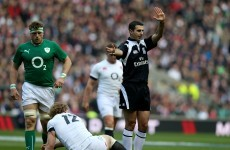 Good news! Romain Poite won't be refereeing an Ireland game in the 6 Nations