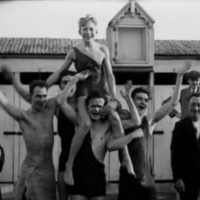 Check out this remarkable news footage of Christmas swimmers in the '20s and '30s