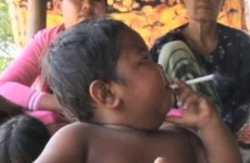 Smoking baby finally kicks the habit