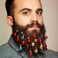 Looking to make your winter beard a bit more festive? Try beard baubles