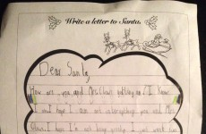 This heartwarming letter to Santa was written by a seven-year-old Irish boy