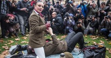 British porn enthusiasts stage face-sitting protest against new law