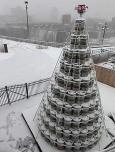 The ultimate Christmas tree is made of 300 beer kegs