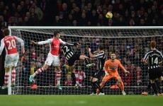 Olivier Giroud gave Arsenal the lead against Newcastle with this great header