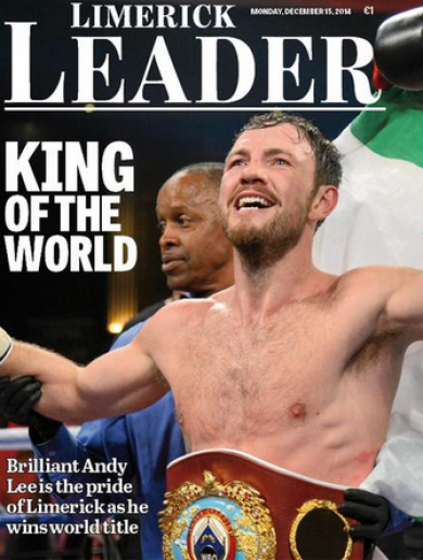 Tomorrow's Andy Lee front page on the Limerick Leader is an absolute gem