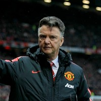 Newstalk commentator Dave McIntyre gets a frosty response from Louis van Gaal