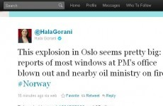 How news of the Oslo bombing unfolded on Twitter