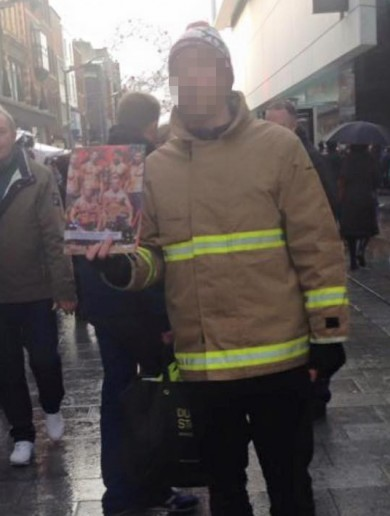 These men are not fire fighters - but they're not scamming you