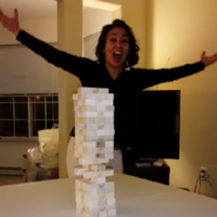 This woman just pulled off the ultimate Jenga move