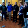 Glen Hansard joins busking students to sing a lovely rendition of The Auld Triangle