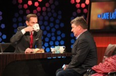 Pat Shortt milled into the tae and hang sangwiches on the Late Late last night