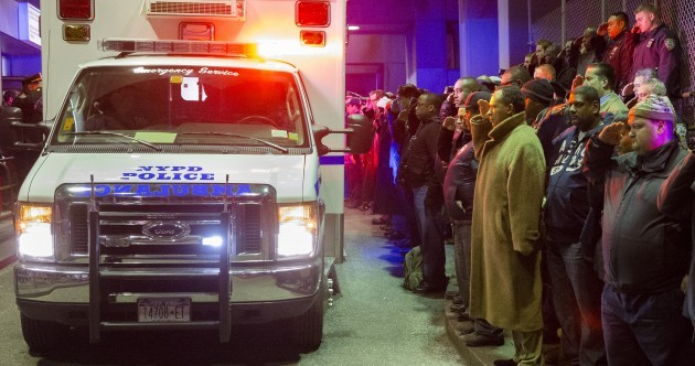 New York reeling after policemen shot dead in their car before gunman shoots himself