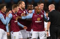 Young admitted fault in Agbonlahor red card, claims Paul Lambert