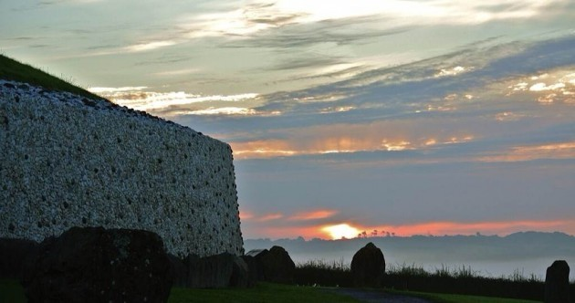 Large crowds gather at Newgrange, despite sun failing to shine