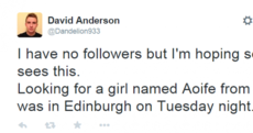 Scottish lad's attempt to contact Irish girl backfires online