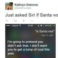 Siri is being super sassy with people who ask her about Santa Claus