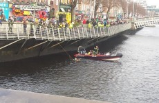 Video: Dramatic rescue of man from Liffey in centre of Dublin city