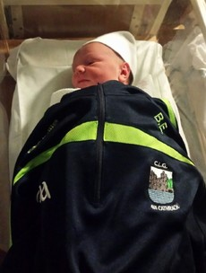 Just hours after becoming a dad, Brian Enright starred in a county final
