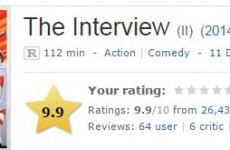 The Interview now has a near-perfect IMDb rating despite the fact that nobody has seen it