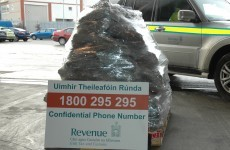 Look at this pile of cannabis seized at Dublin Port yesterday