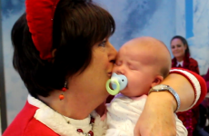 Home for Christmas: Irish granny meets her newborn granddaughter for the first time