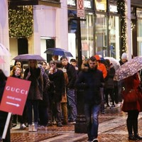 Handbags at dawn: People were literally pulling bargains out of each other's hands this morning