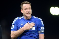 And the first goal of the St Stephen's Day football goes to ... John Terry