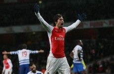 10-man Arsenal claim nervy victory over QPR