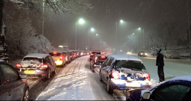 Gridlock in UK: Cars abandoned, passengers stranded after heavy snowfall