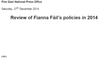 Fine Gael has just dished out this epic burn to Fianna Fáil