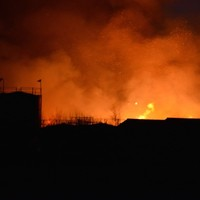 Firefighters have been battling this blaze at a Carlow factory all through the night