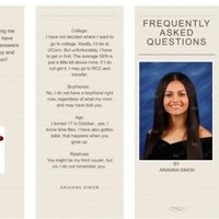 This teenager made excellently sarcastic FAQ cards to give to relatives during the holidays