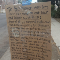 Woman threatens dog owners who don't scoop the poop with unusual punishment