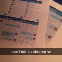 Girl wraps up evidence that her boyfriend was cheating, gives it to him for Christmas