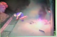 Bungling thief caught on camera trying to blow up ATM... and knocking himself over