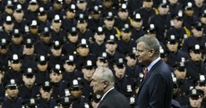 New York mayor booed at police graduation as tensions increase