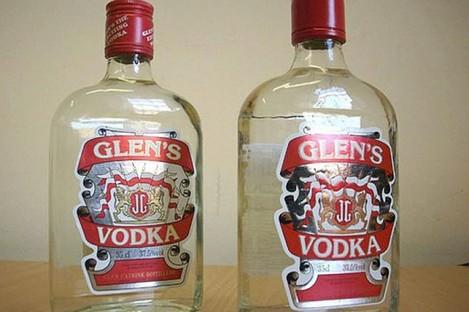 Fake vodka seized in Nottinghamshire.