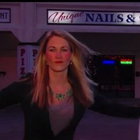 News reporter prepares to go live on air by performing incredibly intricate rap