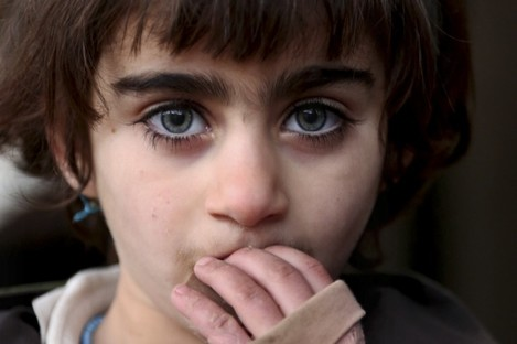 A Yazidi girl displaced by Islamic State.