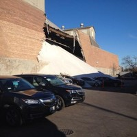 Salt avalanche covers cars after factory wall collapses