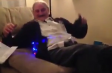 Granddad gets drone for Christmas, flies it into his own face