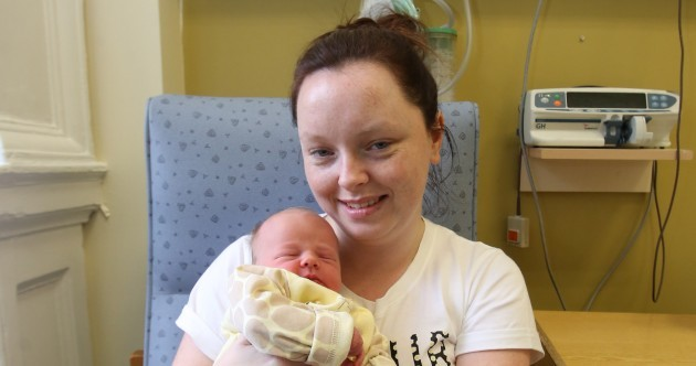 It took just four seconds of the year for Ireland's first baby of 2015 to be born