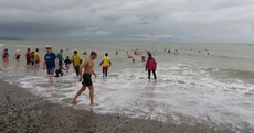 These brave people including a TD took a dip in the Irish Sea for charity today