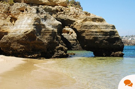 The beach at Lagos, Portugal, where Nick Leeson spends his family holiday is still as beautiful as ever but more deserted - a bad sign in a tourism-dependent region