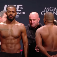 Jon Jones and Daniel Cormier wouldn't even look at each other at the UFC 182 weigh-in